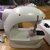 Amazon.com: xhlife Mini máquina de coser con mesa de ...