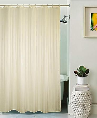SS SALES Curtain Concept Plain Polyester Premium Shower Curtain - 72x80, Beige