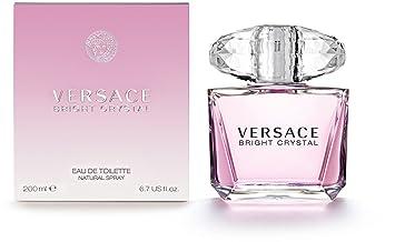 Femme Flacon Pour En Versace 200 Toilette Ml Vaporisateur Bright Crystal Eau De yYgbf76