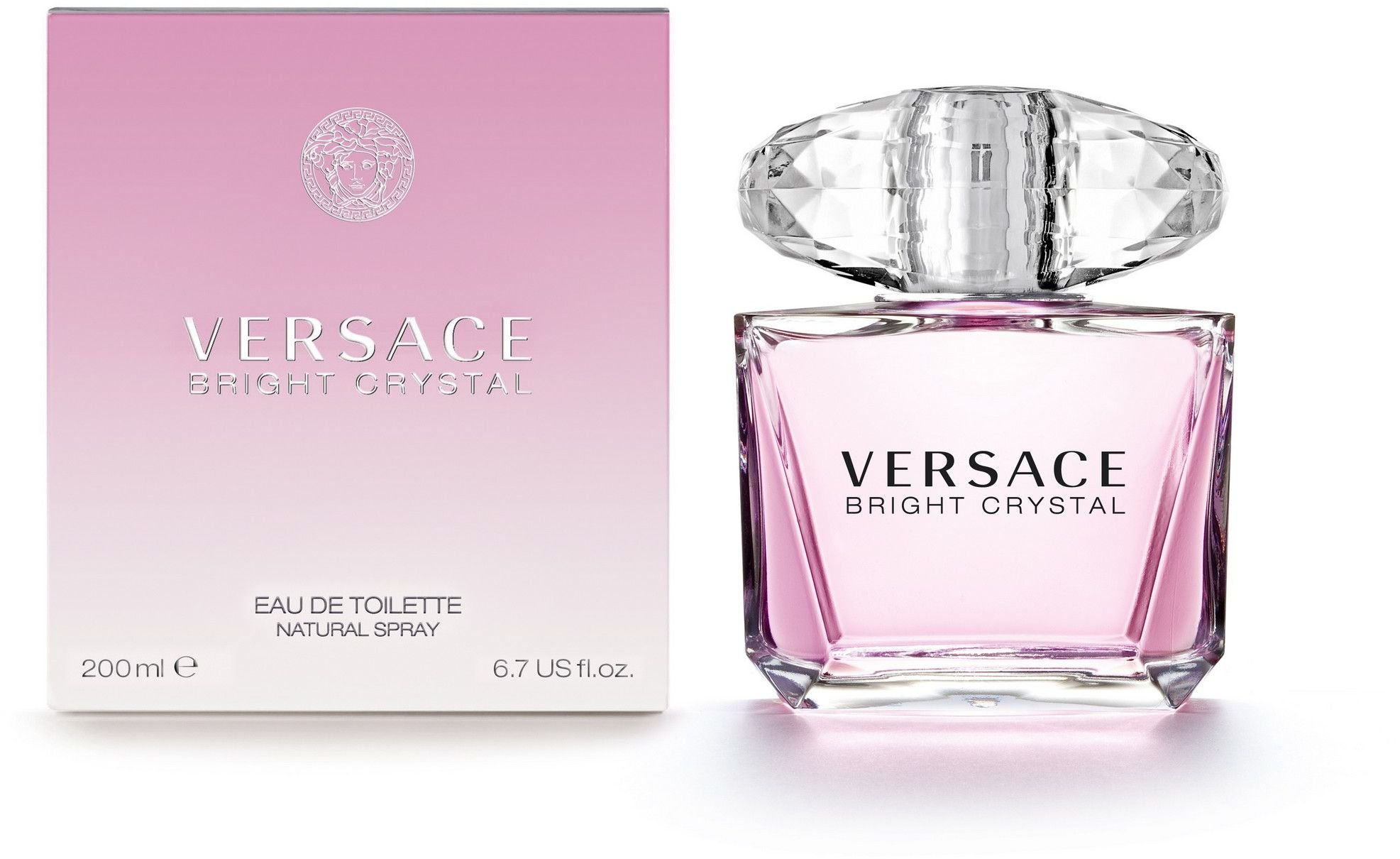 Versace Bright Crystal Eau de Toilette Spray for Women, 6.7 Ounce