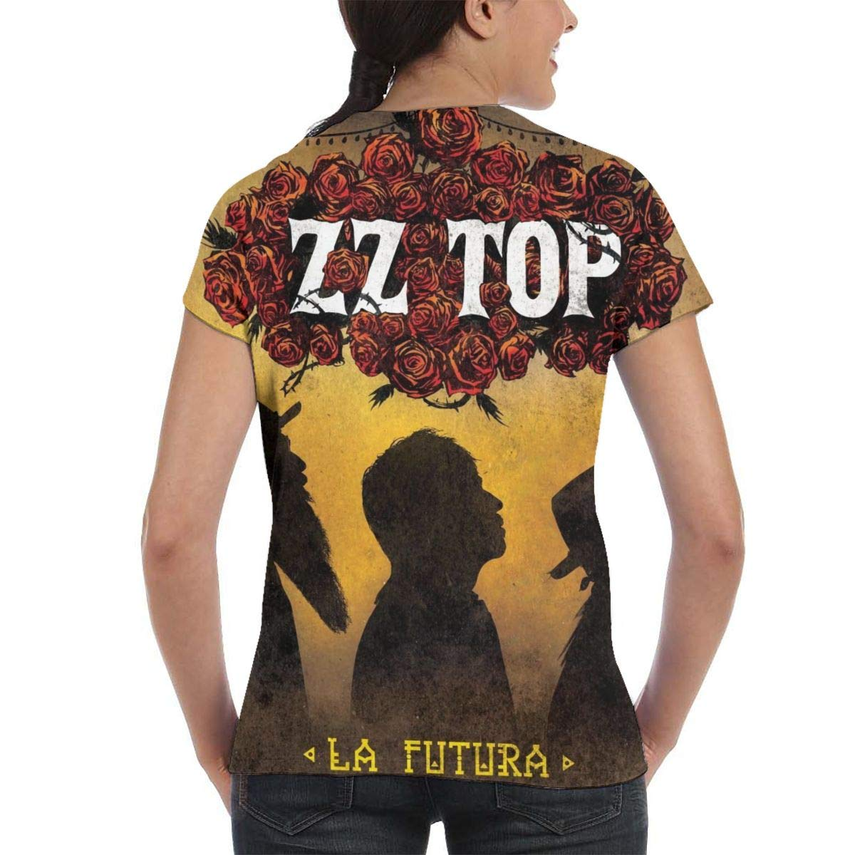ZZ Top 3D Printed Classic Sports Woman Round Neck Short Sleeve Tshirts