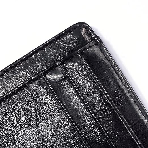 ac8c14e1f497 OMcolor Leather Front Pocket Slim Minimalist Wallet for Men & Women ...