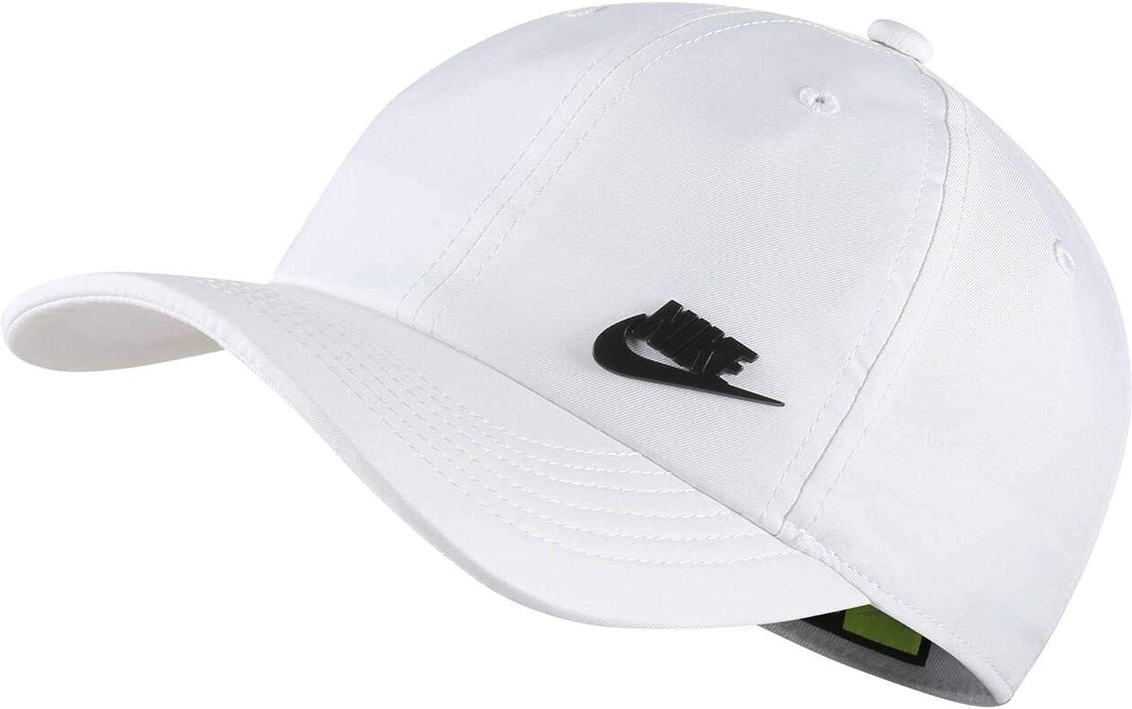 Nike Y NK H86 Cap Metal Futura Hat, Unisex niños, White/Black ...