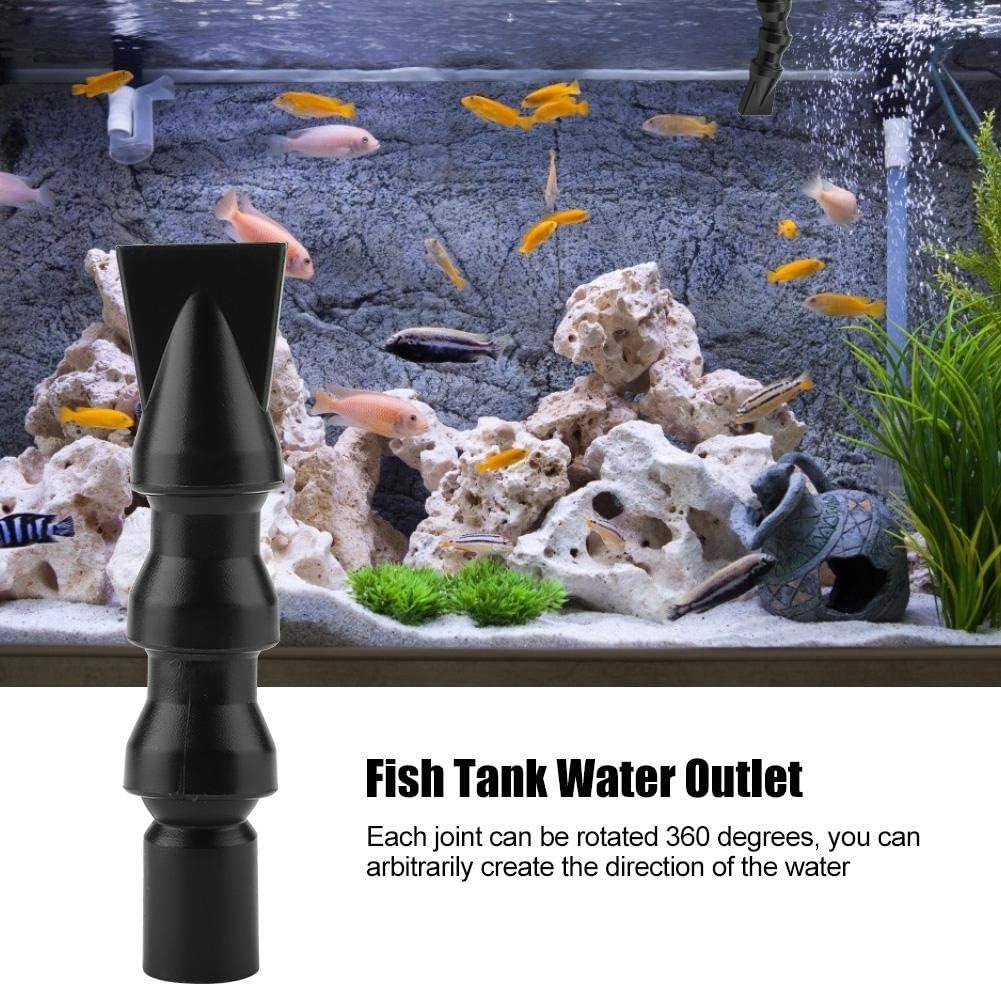 #1 Minnya Flessibile Acquario Anatra Ugello Piatto 360 /° Serbatoio di Pesce Uscita Acqua Rotante Uscita Uscita Acquario Raccordo Idraulico