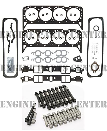 Head Gasket Set & New Head Bolts compatible with 1987-96 Chevy GMC 5 7 350  VIN-K TBI