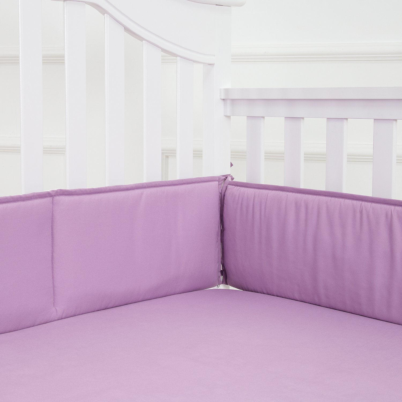 Amazon Com Tillyou Lilac Pleated Crib Skirt 100