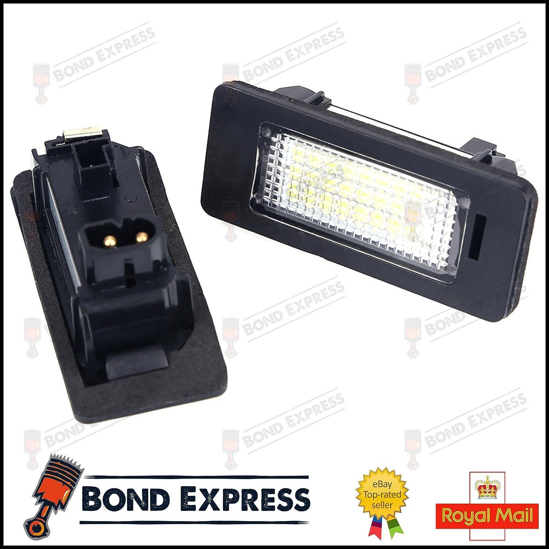 Bond-Express Unidad de luz LED para matrícula, Color Blanco Brillante: Amazon.es: Coche y moto