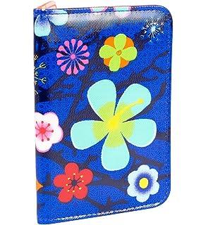 Pylones Porte Cartes De Credit Blue Flower Voyage