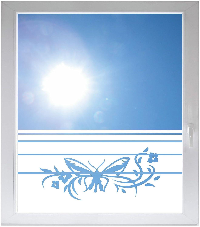 INDIGOS UGプライバシーフィルムガラス装飾フィルムウィンドウフィルムダイナミックストライプサテン不透明 – d041 Giantバタフライ 1200x500 mm INDIGOS UG B01M7PR1AN 1200x500 mm