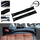 MIHAZ Universal Carbon Fiber Auto Sitz Gap Filler Pad in schwarz mit Spacer Schutzhülle und Slot Plug Pack 2