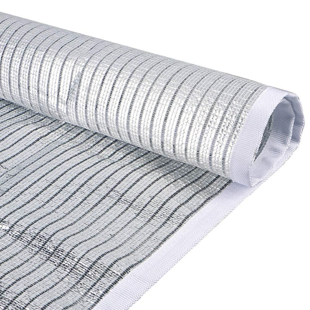 Patio RV toldo jard/ín WXQIANG 75/% de Tela de Sombra Reflectante para Exteriores 1 x 1 m Polietileno Malla de Aluminio para Exteriores