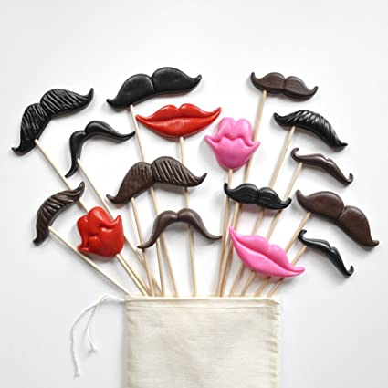 Mustache And Smile Prop Kit Set Of 16 Props For A Photo Booth