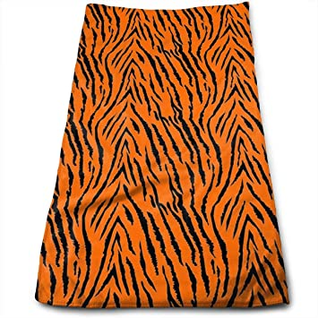 ewtretr Toallas De Mano,Cotton Tiger Stripes Orange Pattern Dish Towels,Oversized Kitchen Towels for Drying,Cleaning,Cooking,Baking (12 X 27.5 Inch): ...