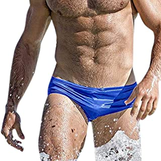 AMSKY Fashion Men Breathable Trunks Pants Beach Solid Color Running Swimming Underwear