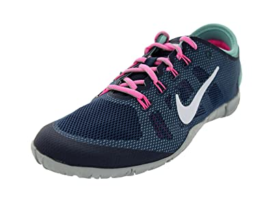 quality design f579c aa732 Nike Free Bionic Womens Size 7 Blue Mesh Running Shoes, Obsidian White PINK