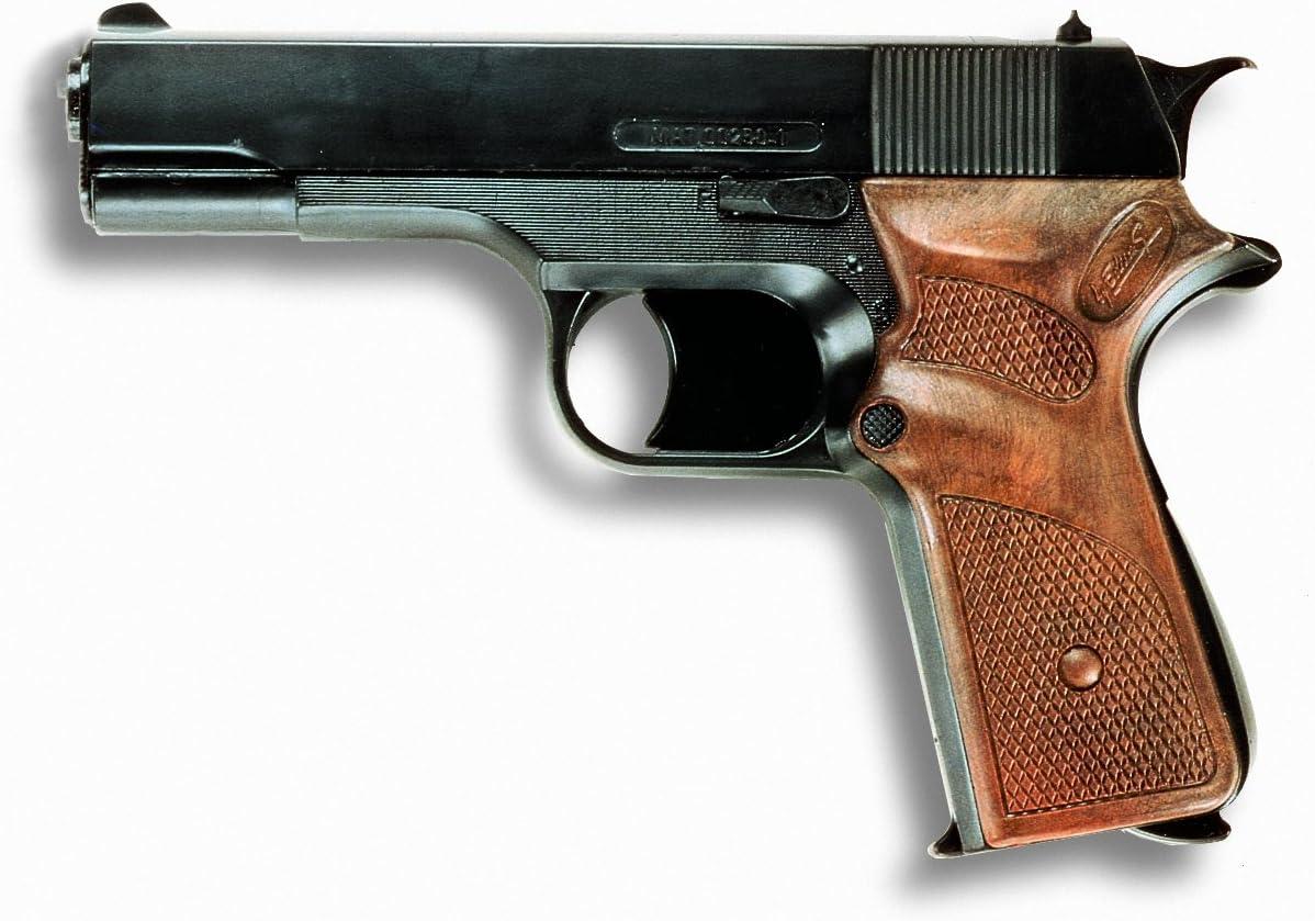 EDISON 8026025 Jaguar - Pistola de juguete jaguar automática con capacidad para 13 cartuchos sin silenciador [Importado de Alemania]