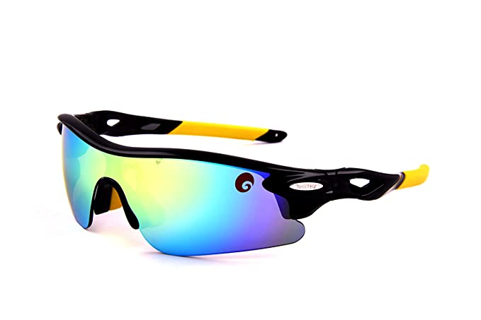 0d9a13bc0f Image Unavailable. Image not available for. Colour  Omtex Sports Sunglasses  (Flash Yellow)