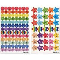 FEPITO Smiley Happy Face Stickers en smiley Star stickers voor leraren, ouders, kinderen, knutselen, scrap boeken…
