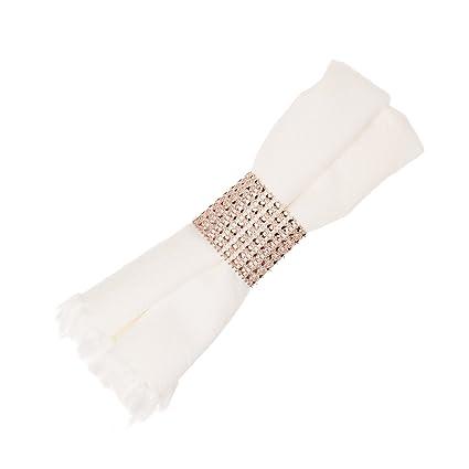 Amazoncom Ella Celebration Napkin Rings for Wedding Napkin Ring
