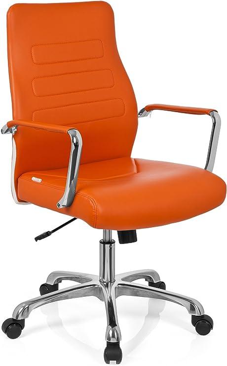 Hjh Office 720010 Tewa Leatherette Office Chair Executive Chair Orange Amazon De Kuche Haushalt