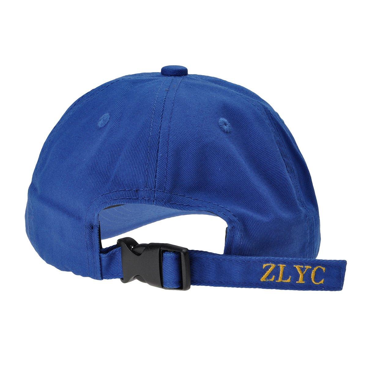 ZLYC Adjustable Cotton Baseball Cap Hat Fashion Embroidered