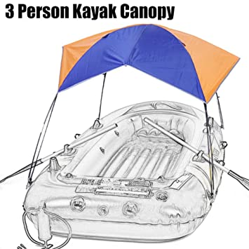 3 Person Inflatable Kayak Awning Canopy Portable And Foldable for Summer Boat and C&ing Sun Shelter  sc 1 st  Amazon.com & Amazon.com: 3 Person Inflatable Kayak Awning Canopy Portable And ...