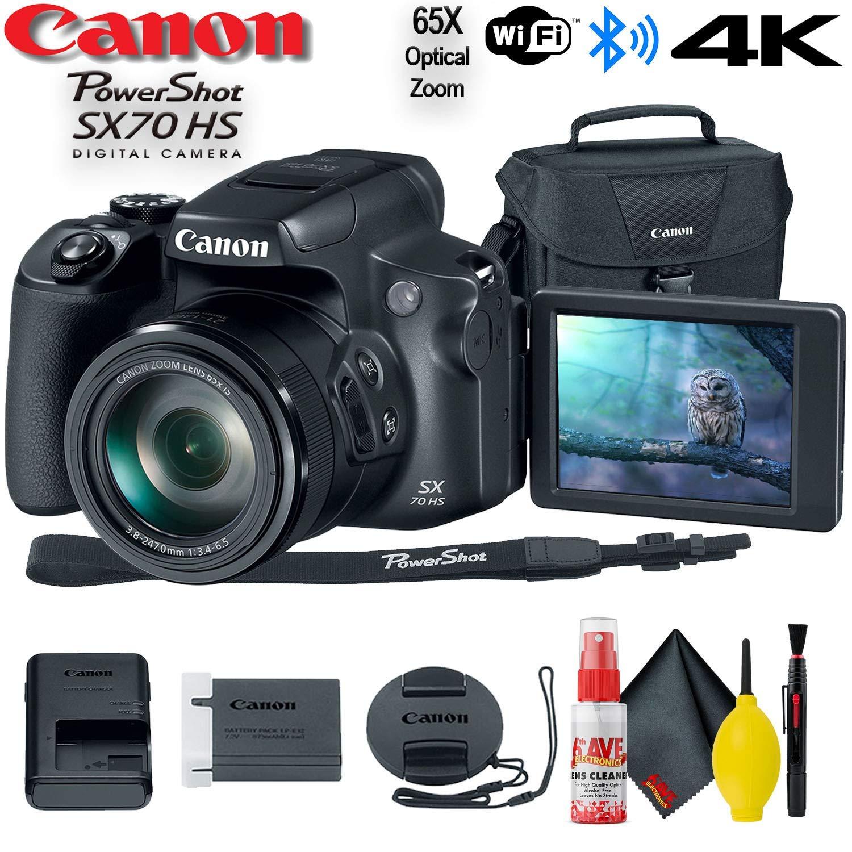 Canon PowerShot SX70 HS Digital Camera (3071C001) - Base Bundle