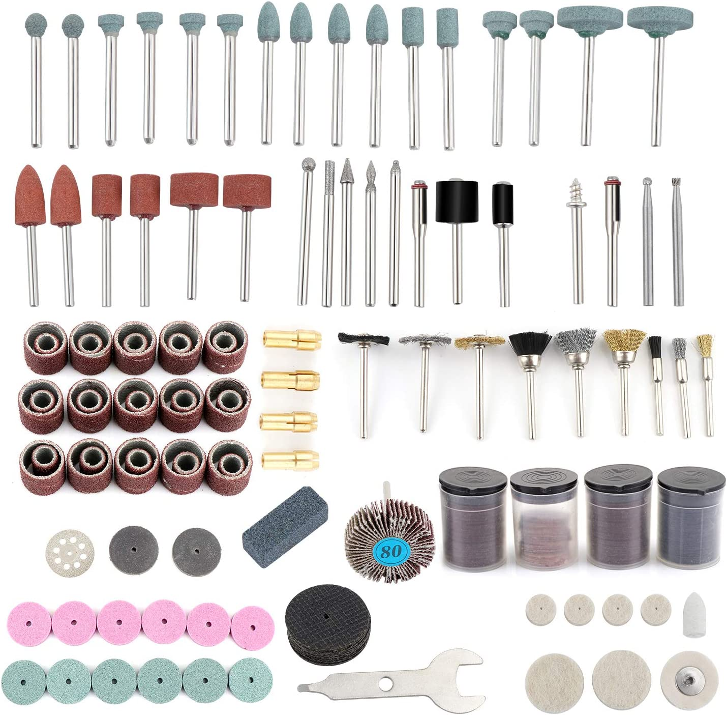 Sharpening Carving and Polishing HSEAMALL 216pcs Rotary Tool Accessory Kit,Dremel Accessories 1//8 Diameter Shanks Universal Fitment Cutting Grinding Sanding