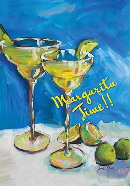 Toland Home Garden Margarita Time 28 X 40 Inch Decorative Colorful Lime Happy Hour Cocktail Party House Flag Outdoor Flags Garden Outdoor