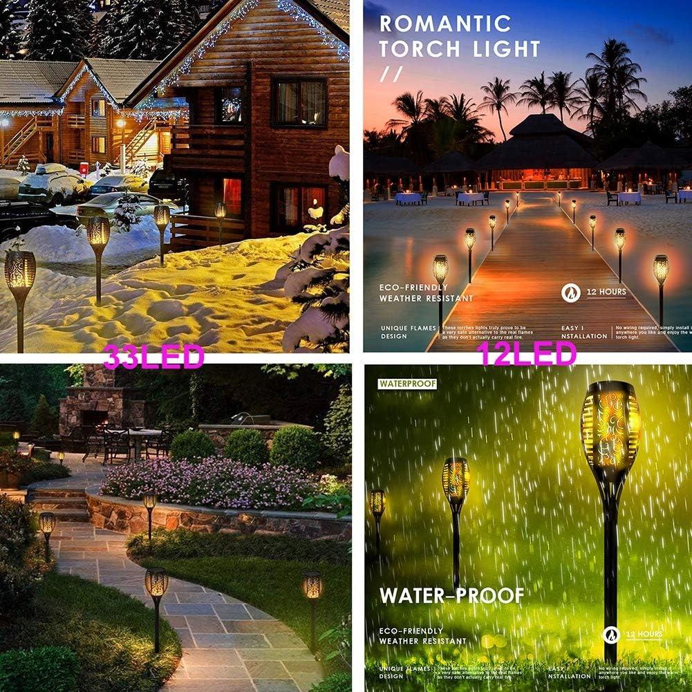 Solar Lights Outdoor LED Solar Flame Light Lamp Flickering Waterproof Garden Decoration Landscape Lawn Lamp Path Lighting Torch Outdoor Spotlight
