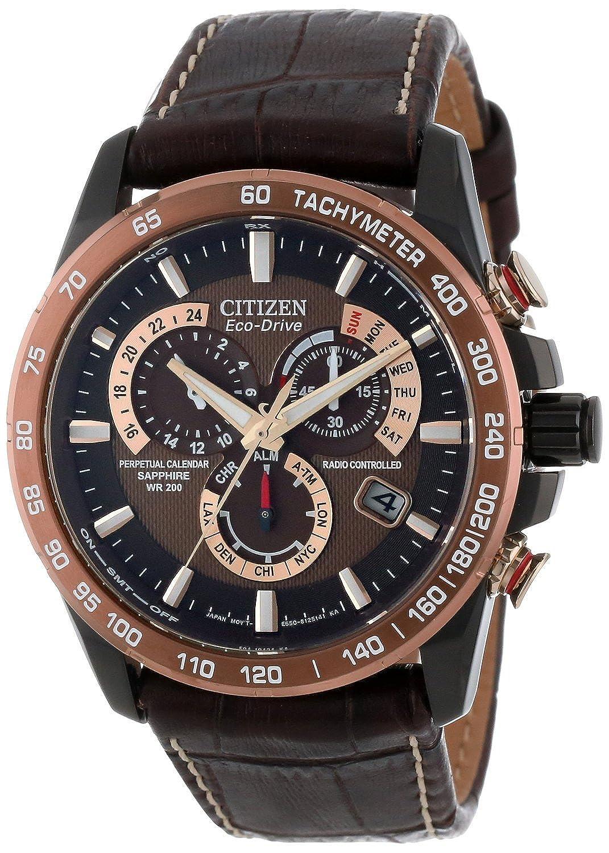 [シチズン]Citizen 腕時計 Stainless Steel Eco-Drive Watch with Leather AT4006-06X メンズ [並行輸入品] B00X623CFY