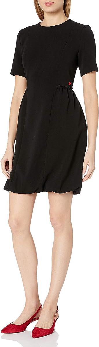 My Way 80s Black Tulip Dress