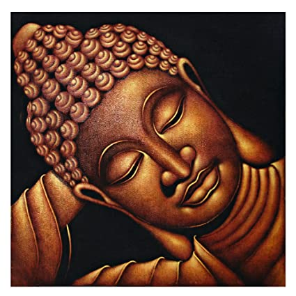 Sea Charm - Sleeping Buddha Canvas Wall Art Peaceful Buddha Face Picture on Canvas Framed  sc 1 st  Amazon.com & Amazon.com: Sea Charm - Sleeping Buddha Canvas Wall Art Peaceful ...