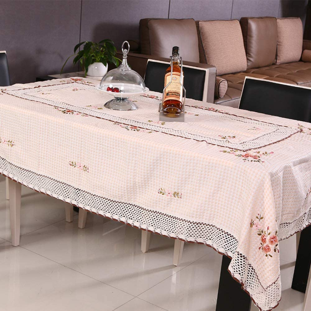 CFWL Mantel Antideslizante de Lino de algodón Liso Cinta Bordada ...