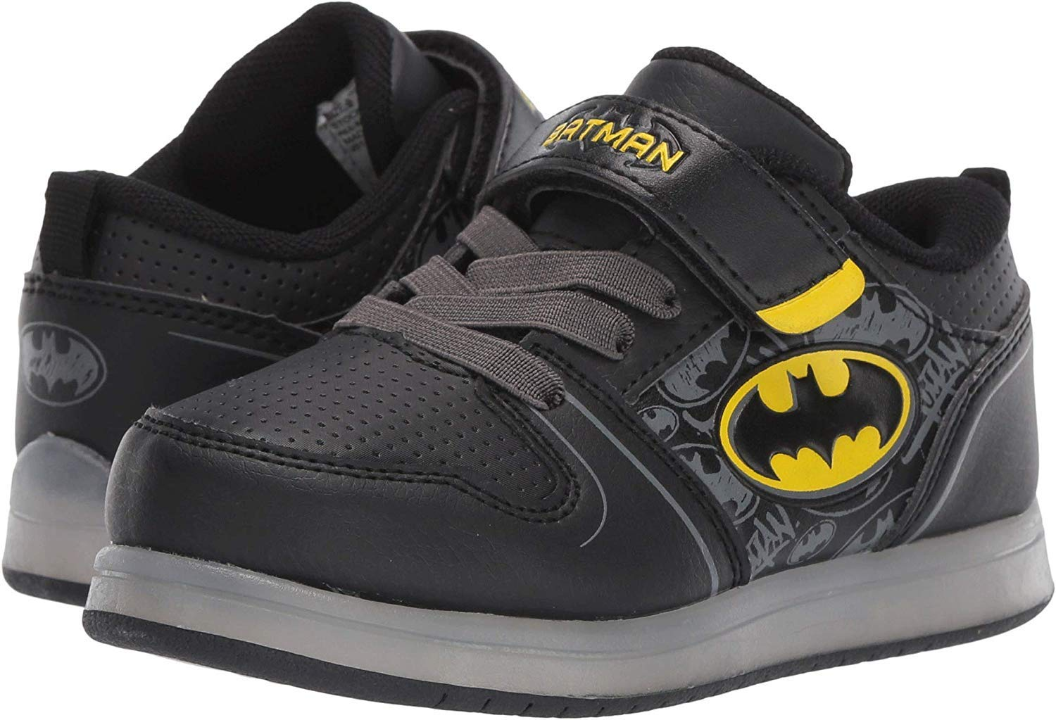 Favorite Characters Boys DC Batman Motion Lighted Sneaker (Toddler/Little Kid), Size 11 Black