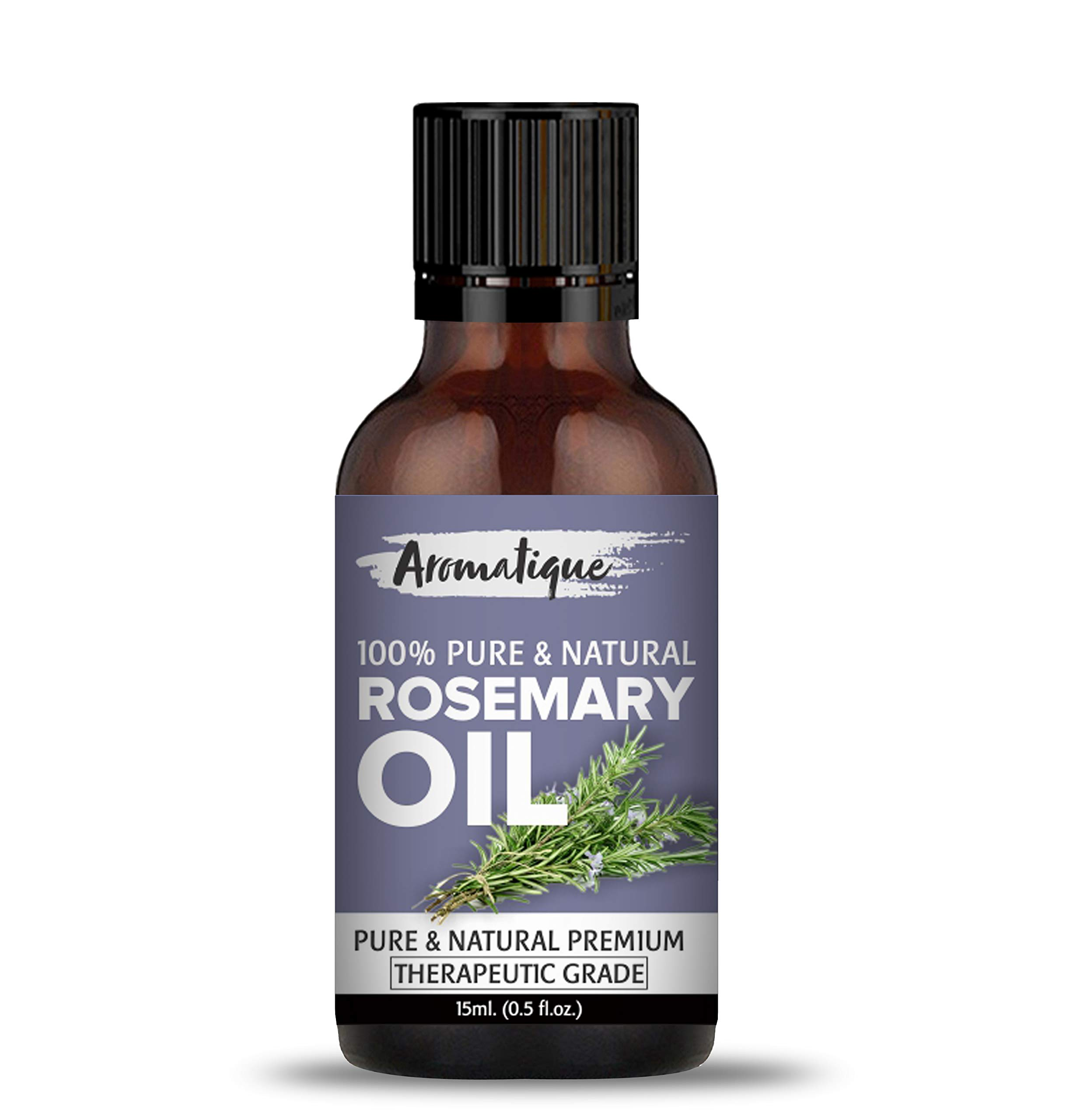Aromatique Rosemary Essential Oil For Hair Growth,Skin and Body 43% Pure  and Natural Therapeutic Grade (43ml)