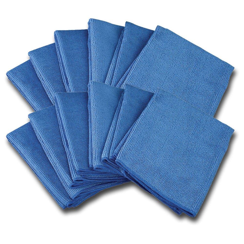 Ultra Fine Premium Microfiber Polishing Towel - Professional Grade (12 pack)