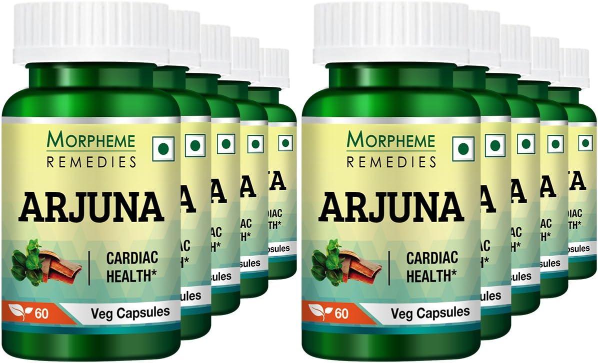 Morpheme Terminalia Arjuna 500mg Extract 60 Veg Caps Pack of 10
