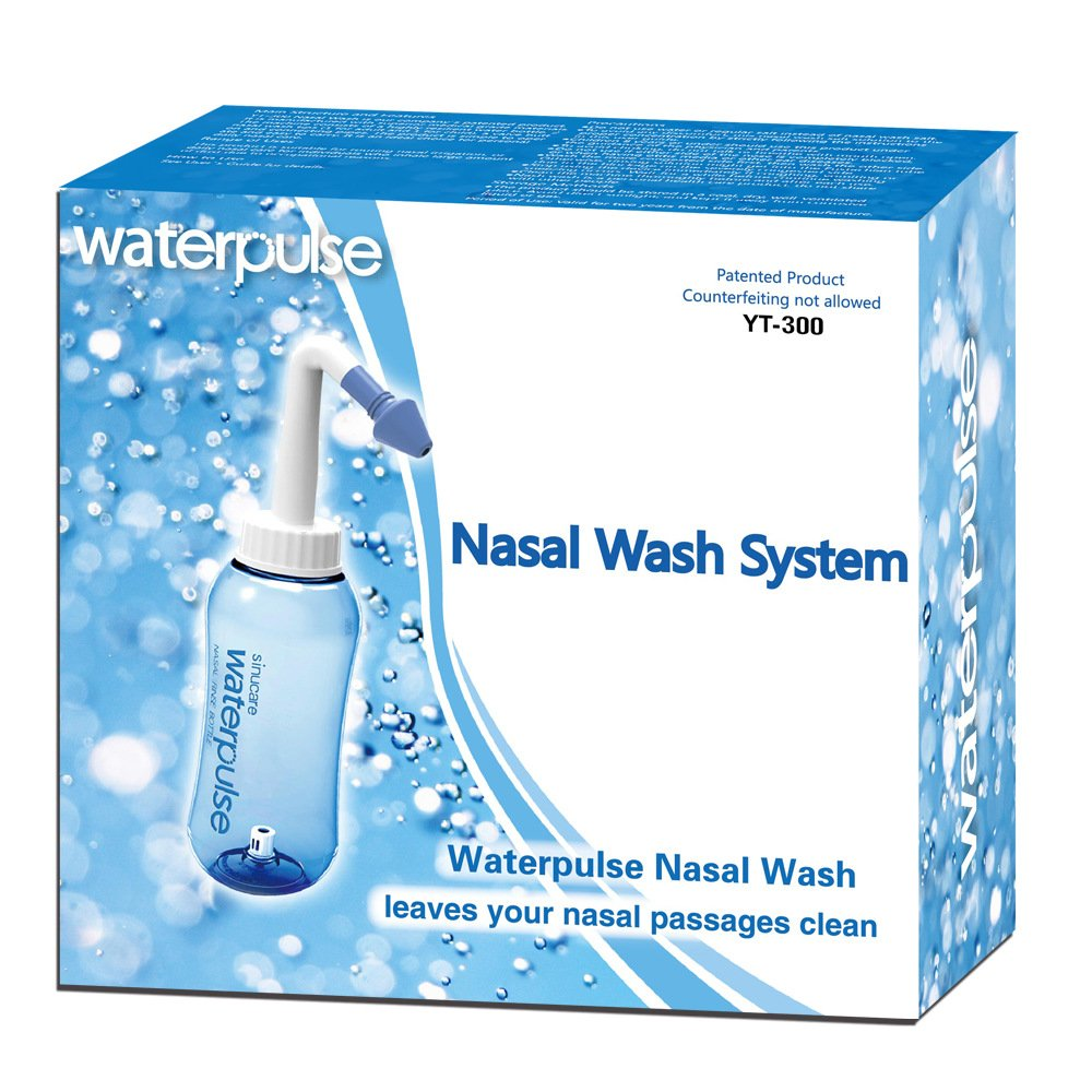 Gaodear Nasal Rinsing Nose Wash Bottle 10oz 300ml Nose Cleaner & Sinus Irrigation System,Pressure Rinse Neti Pot Cleanser for Adult Kid Allergic Rhinitis Nasal Irrigation Pot Nose Care