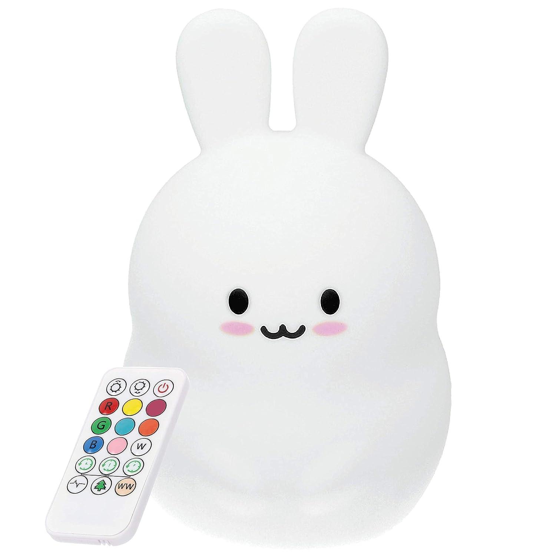 Luce Notturna LED Coniglietto con telecomando, Lampada da notte per bambini Atlanti