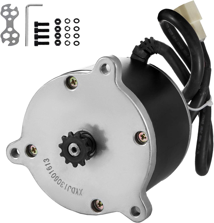 Mophorn Motor de Corriente Continua 24V Motor Eléctrico 450W Motor de CC 2600RPM Motor de Imanes Eléctrico