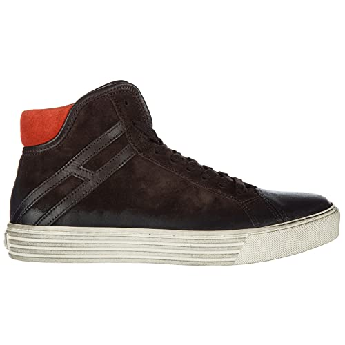 Hogan Rebel Scarpe Sneakers Alte Uomo in Camoscio Nuove 206 Polacco  Marrone  Amazon.it  Scarpe e borse 885ef523dc2