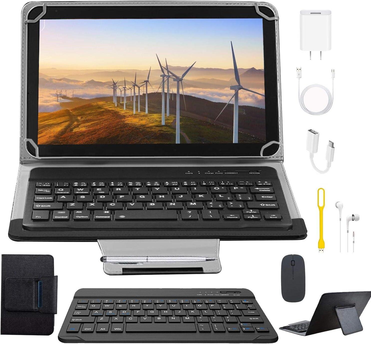 Tablets 10.1 Pulgadas Full HD, Android 9.0 WiFi/4G/OTG, 4GB RAM + 64GB ROM, Quad-Core 8MP Cámara Tablet PC 8000mAh Batería Moviles Buenos o Tablets Puede Llamar Apoyo Dual SIM (Black)