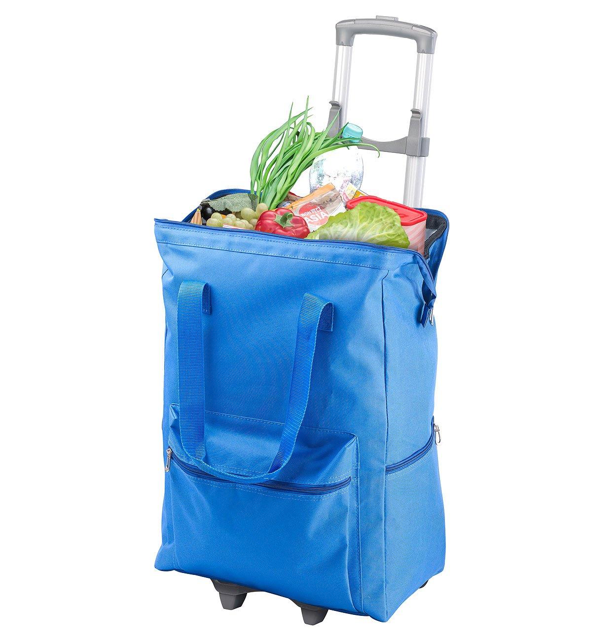 PEARL Einkaufstrolley: 2in1-XXL-Einkaufs-Kü hltasche mit abnehmbarem Trolley, 55 Liter (Einkaufstrolleys)