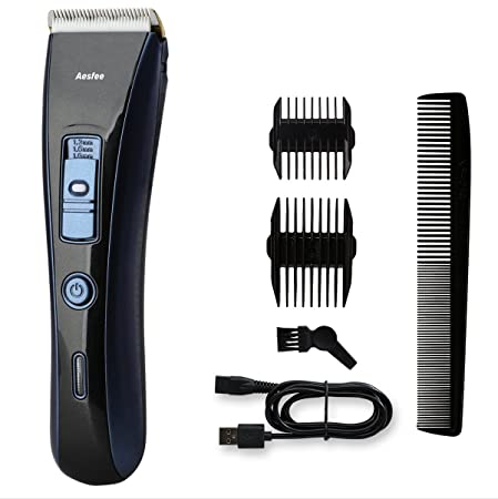 Hair Clipper Cordless Hair Cutting Machine, Professional Hair Clippers Set Rechargeable Hair Trimmer Beard Shaver Electric Haircut Kit Titanium Coated and Ceramic Blades for Men, Kids, Family Use