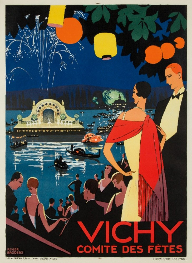 Vichy – Comite Des Fetesヴィンテージポスター(アーティスト: Broders , Roger )フランスC。1926 24 x 36 Giclee Print LANT-62292-24x36 B017ZL58QM  24 x 36 Giclee Print