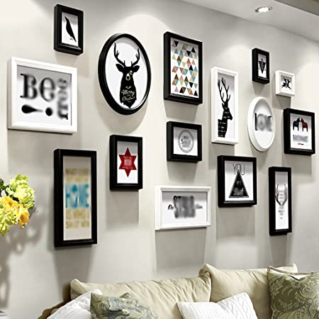 ASL Tim Color Painting Living Room Photo Wall Combination Wall Frame ...