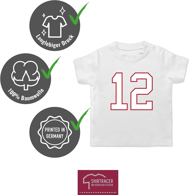 Baby T-Shirt Kurzarm Shirtracer Sport Baby Football New England 12