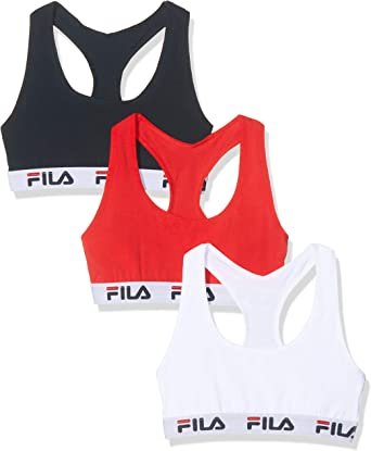 Fila Sujetador deportivo para Mujer (pack de 3): Amazon.es: Ropa y accesorios