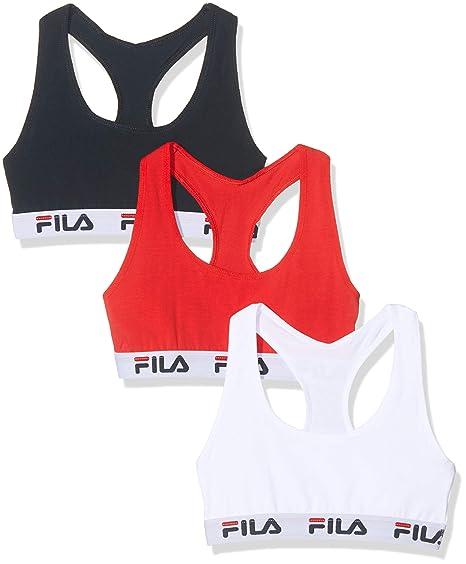 Fila Sujetador deportivo para Mujer (pack de 3): Amazon.es: Ropa y ...